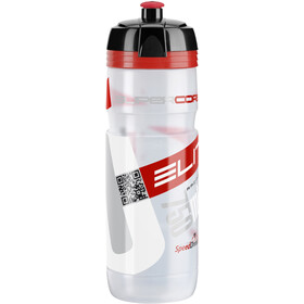 Elite Super Corsa Drinking Bottle 750ml, transparent/red